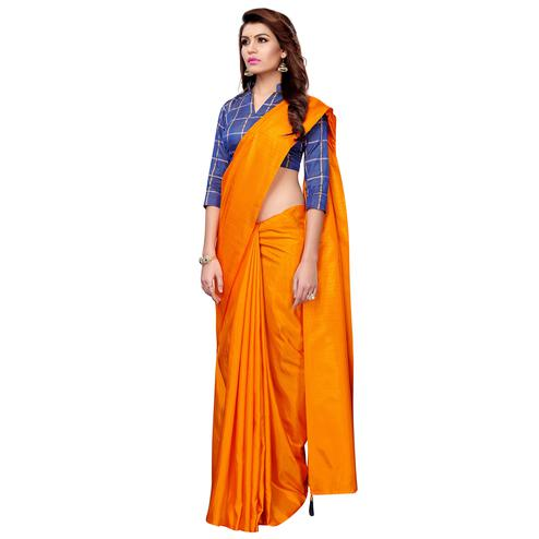 Arresting Orange Colored Casual Wear Art Silk Saree