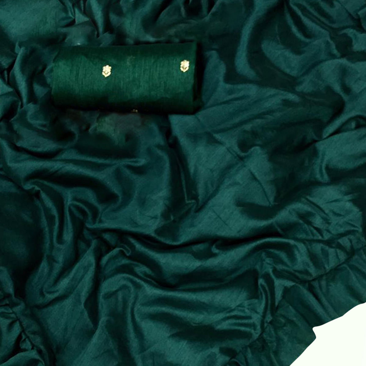 Exotic Bottle Green Colored Partywear Art Silk Saree