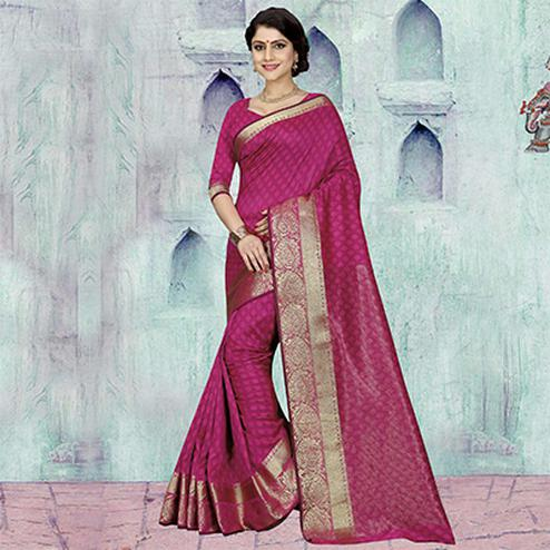 Pink Festive Wear Art Silk Saree