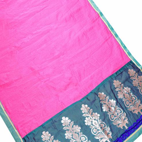 Preferable Pink Colored Partywear Chanderi Silk Saree