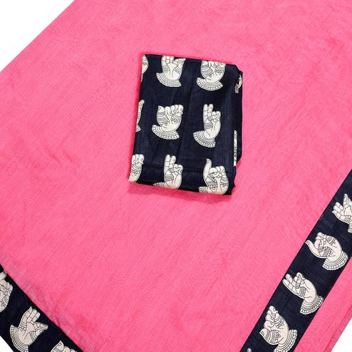Captivating Pink Colored Casual Wear Chanderi Silk Saree