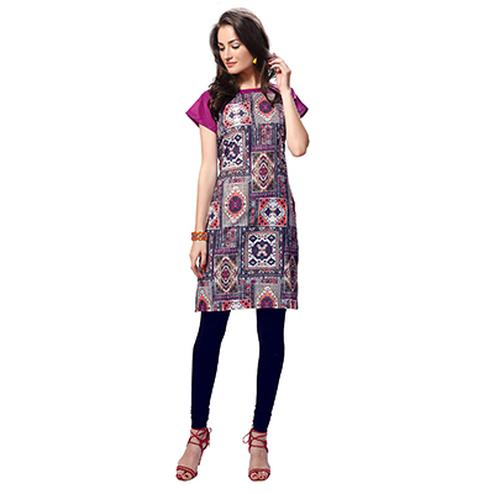 Multi Color Casual Wear Kurti