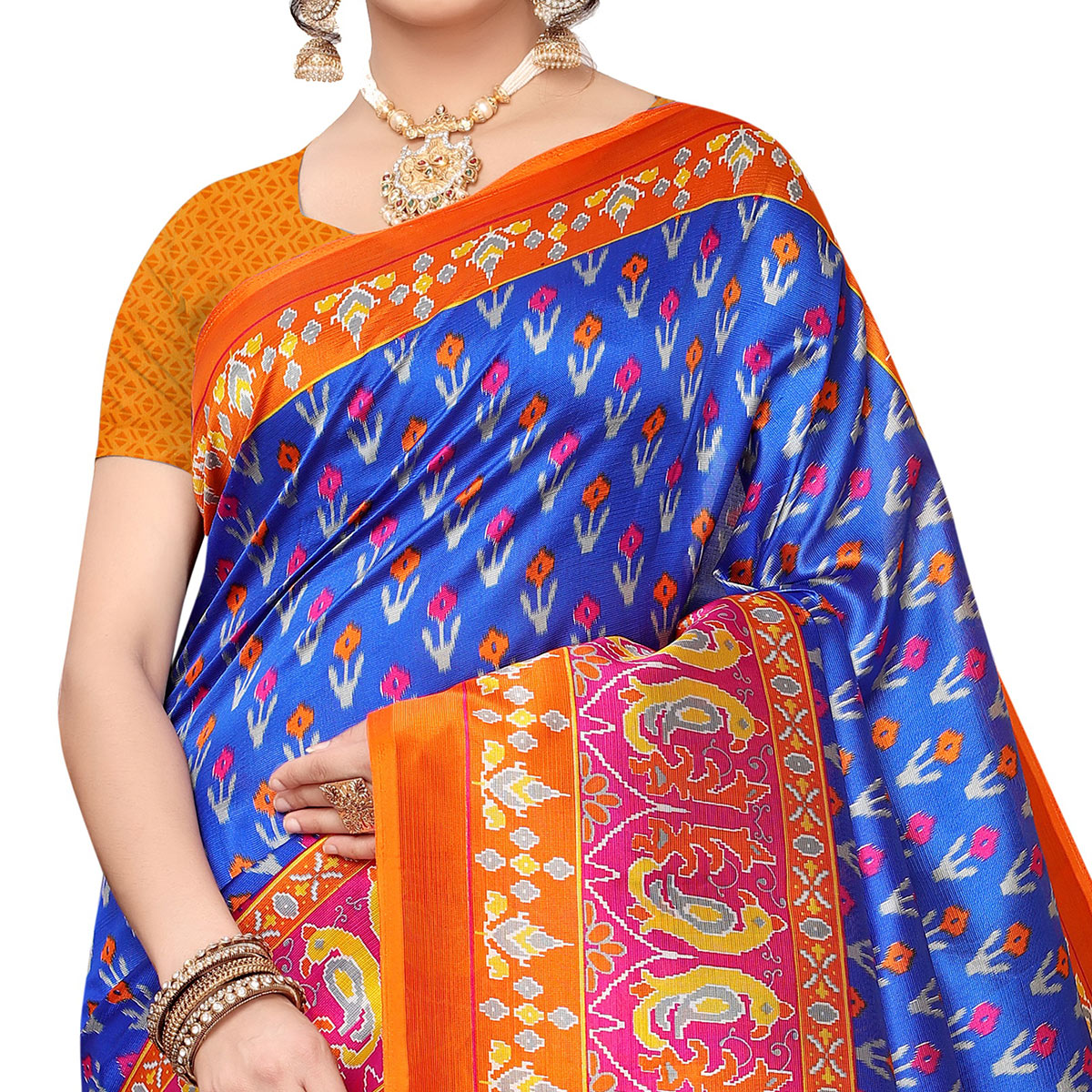 Jazzy Blue Colored Festive Wear Art Silk Saree