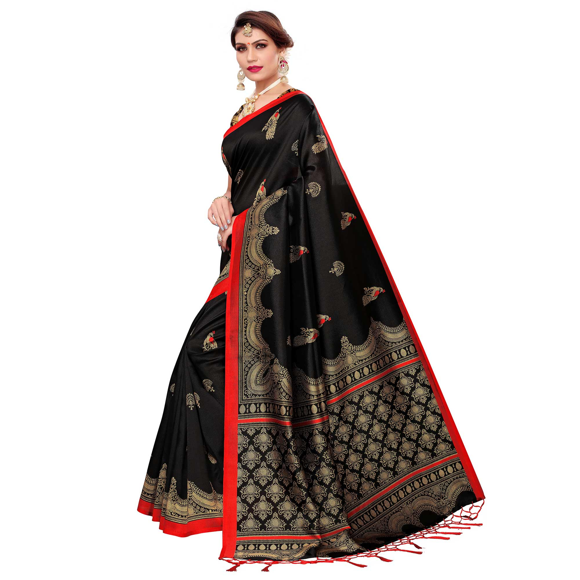 Radiant Black Colored Festive Wear Art Silk Saree