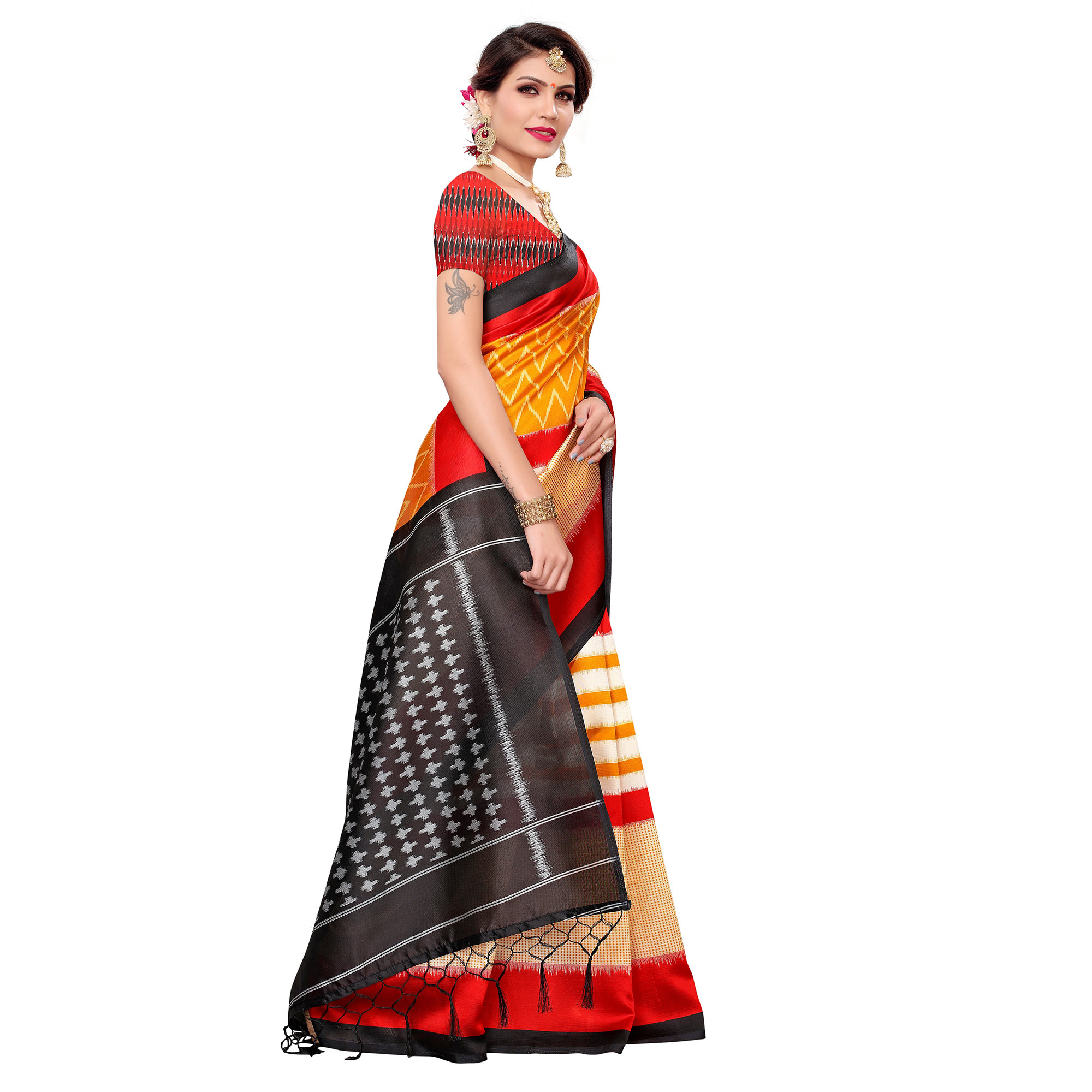 Exceptional Yellow Colored Festive Wear Art Silk Saree