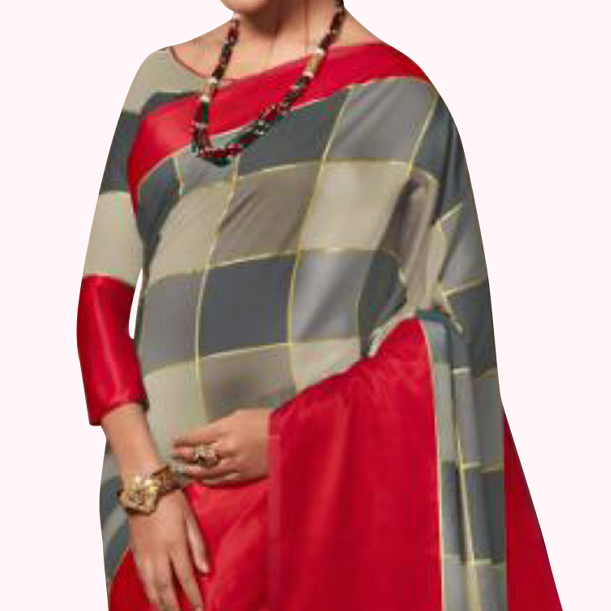 Unique Gray Colored Festive Wear Art Silk Saree