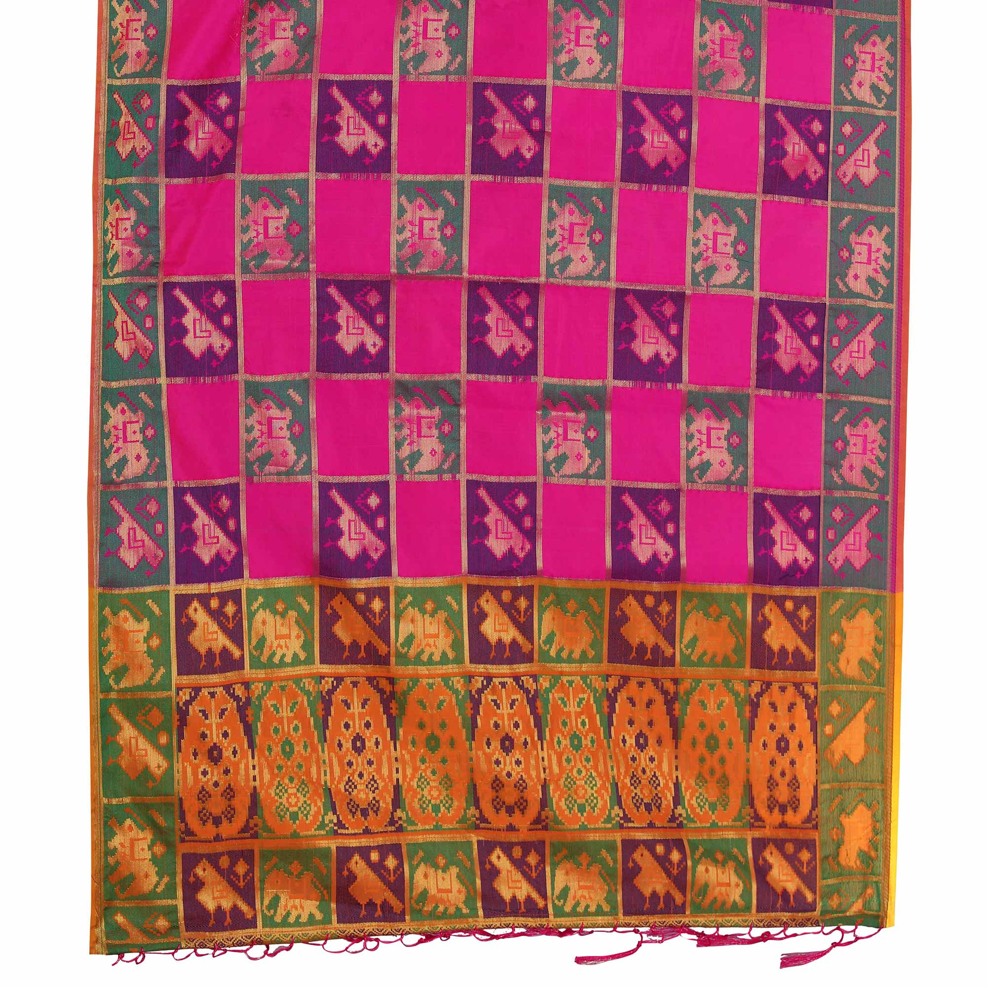 Trendy Pink Colored Festive Wear Woven Silk Saree