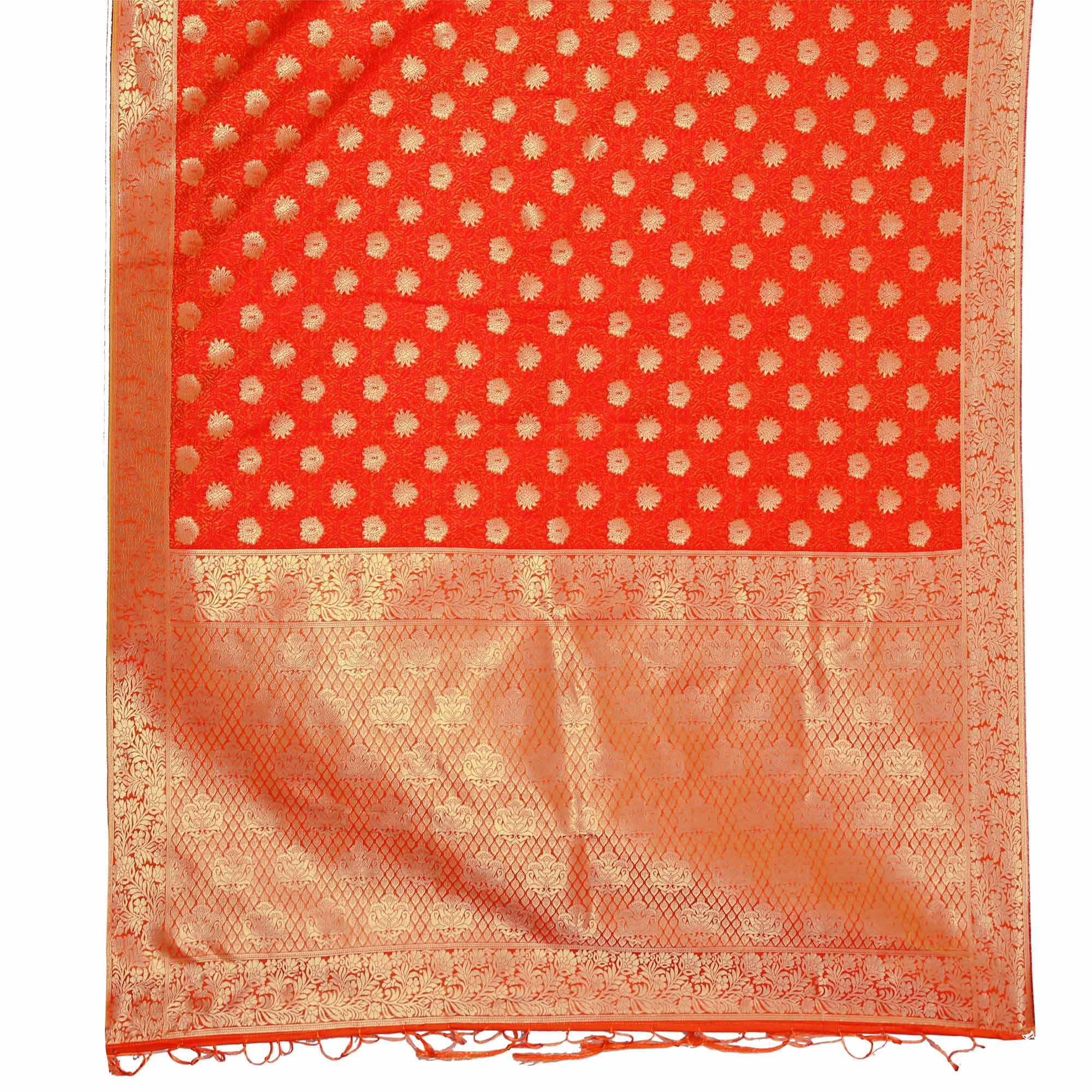 Exceptional Red Colored Festive Wear Woven Art Silk Saree