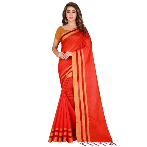 Jazzy Red Color festive Wear Silk Saree