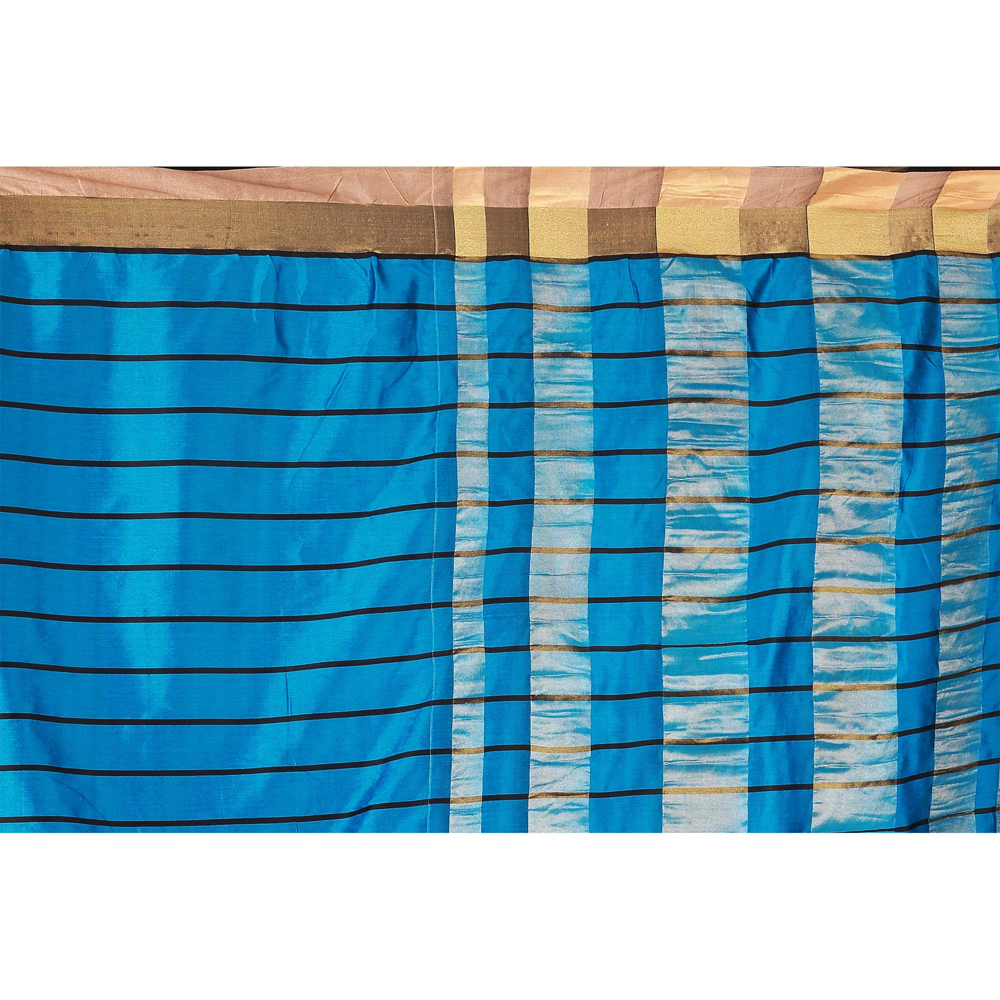 Jazzy Firozi Colored Casual Wear Cotton Saree