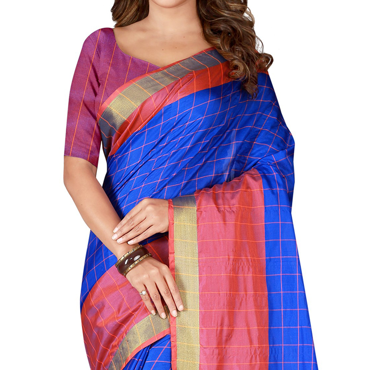 Staring Royal Blue Colored Casual Wear Art Silk Saree