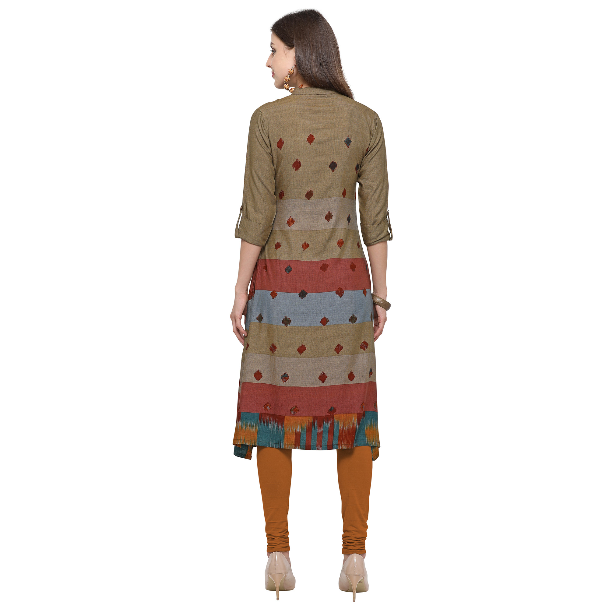 Amazing Green-Multi Colored Casual Printed Rayon Kurti