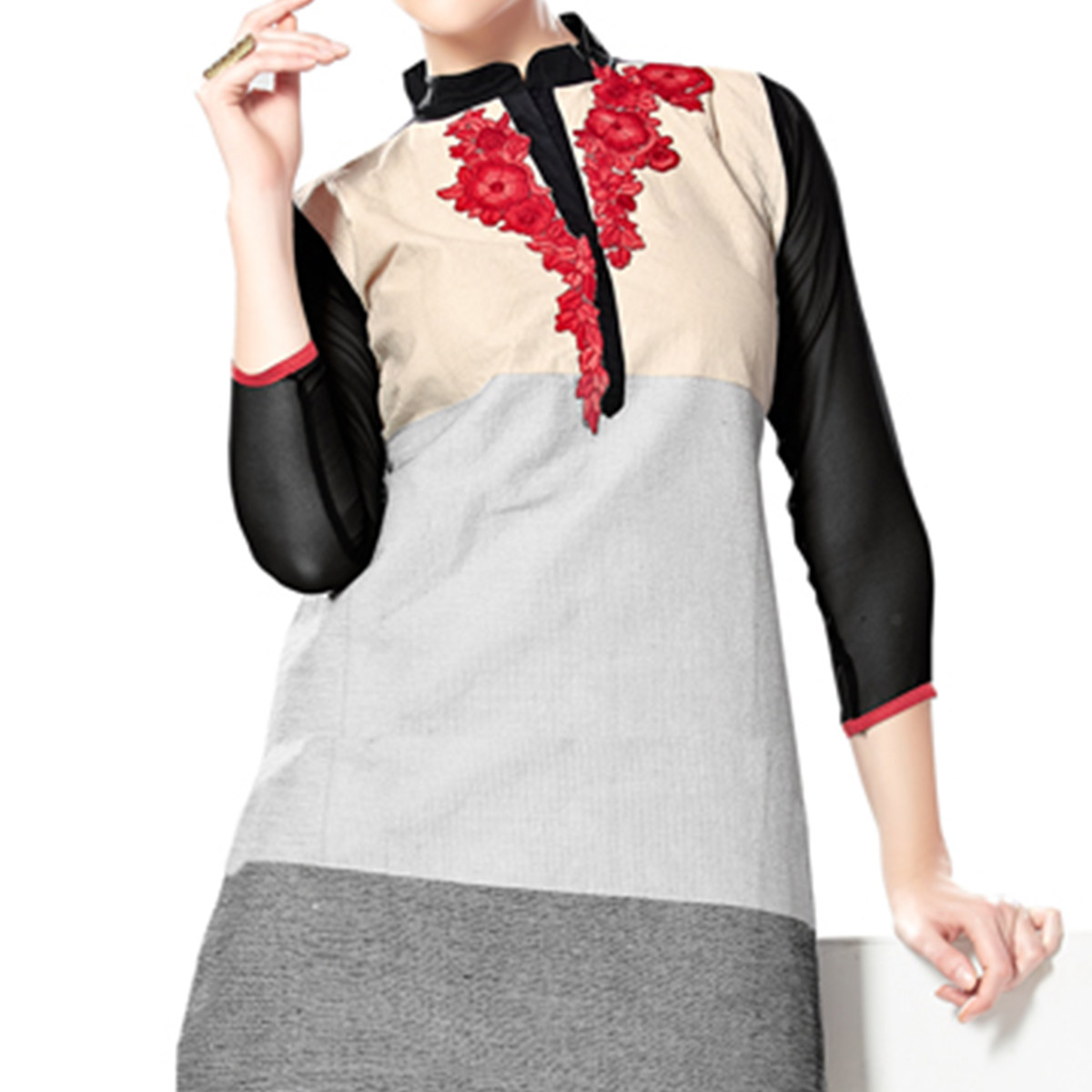 Multi Color Patch Work Tunic