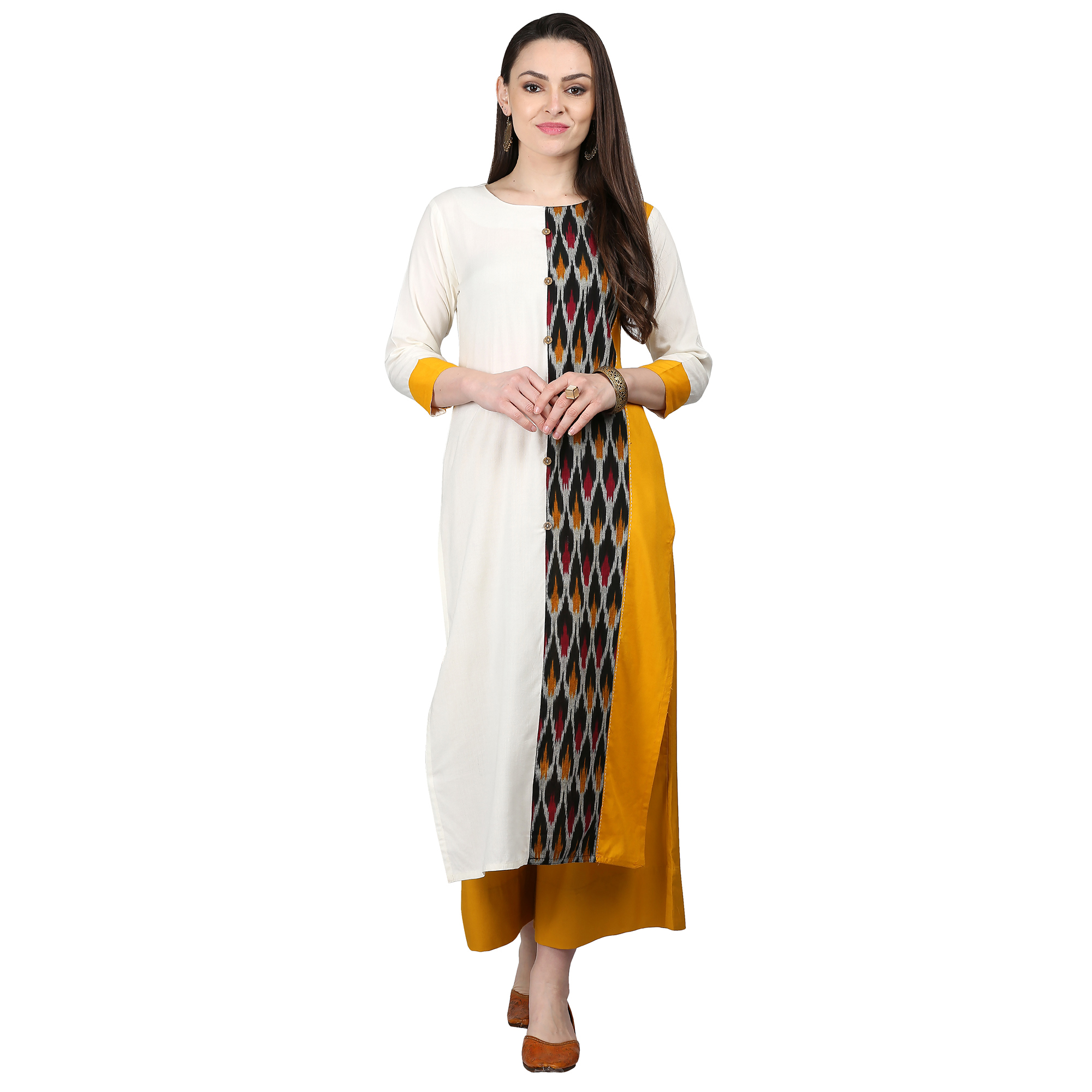 Radiant Off White-Multi Colored Casual Printed Cotton Kurti