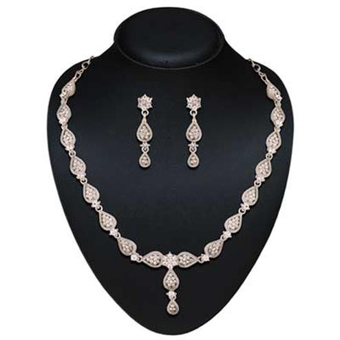 Micro rudiam plated australian stone necklace set