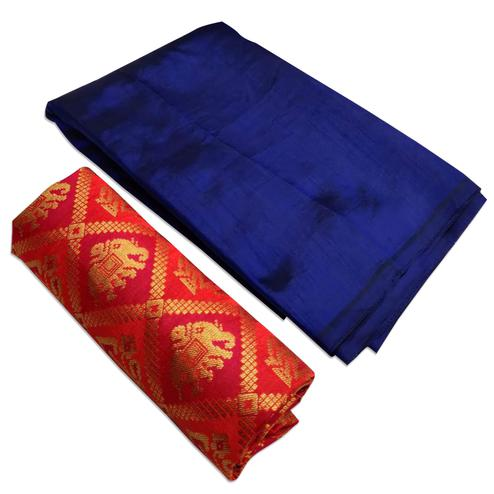 Special Navy Blue Colored Festive Wear Zoya Silk Saree
