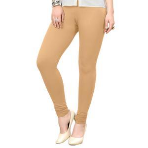 Innovative Beige Colored Casual Wear Ankle Length Leggings
