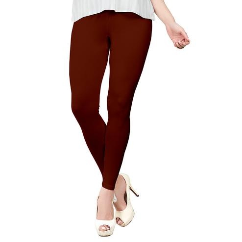 Blissful Maroon Colored Casual Wear Ankle Length Leggings