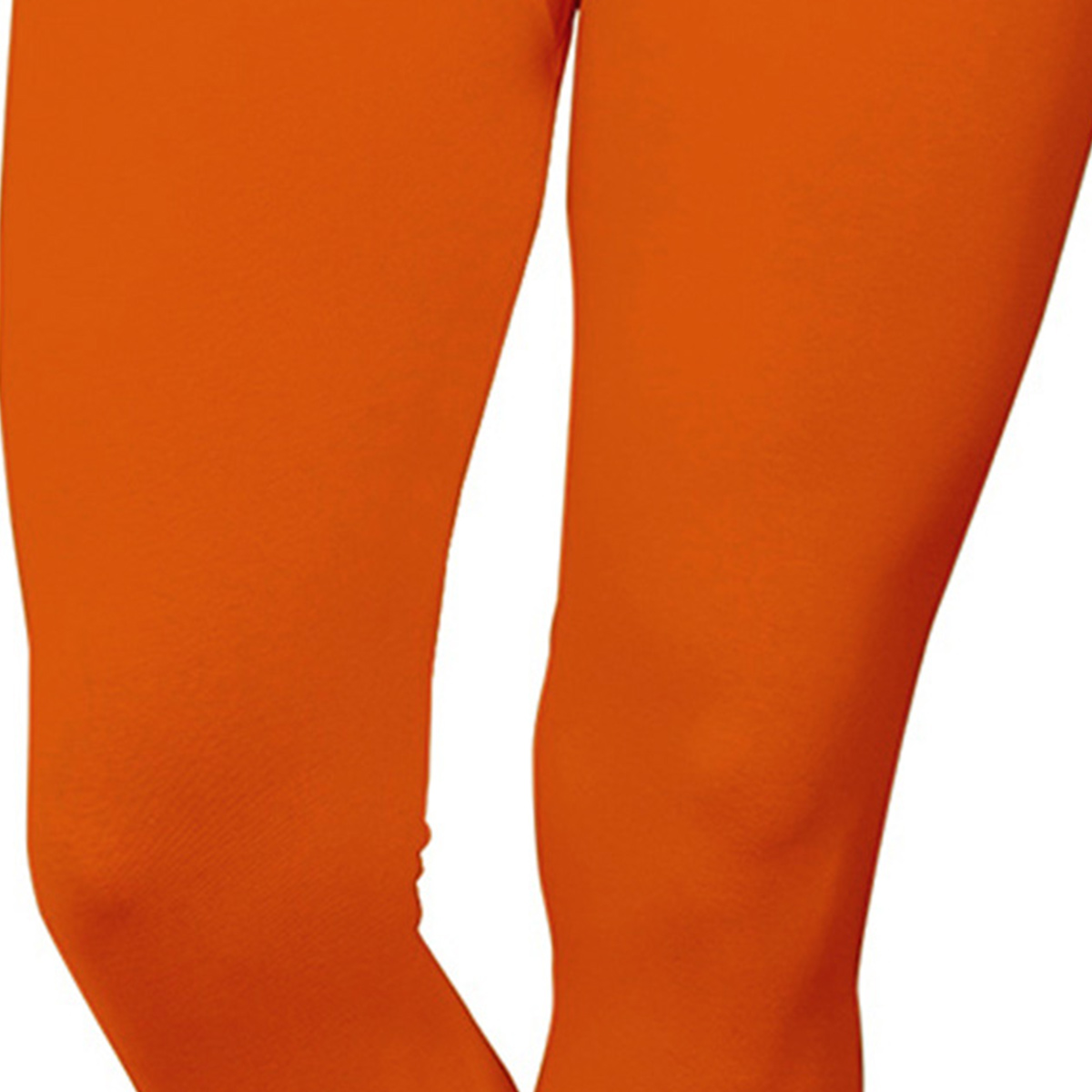 Refreshing Orange Colored Casual Wear Ankle Length Leggings