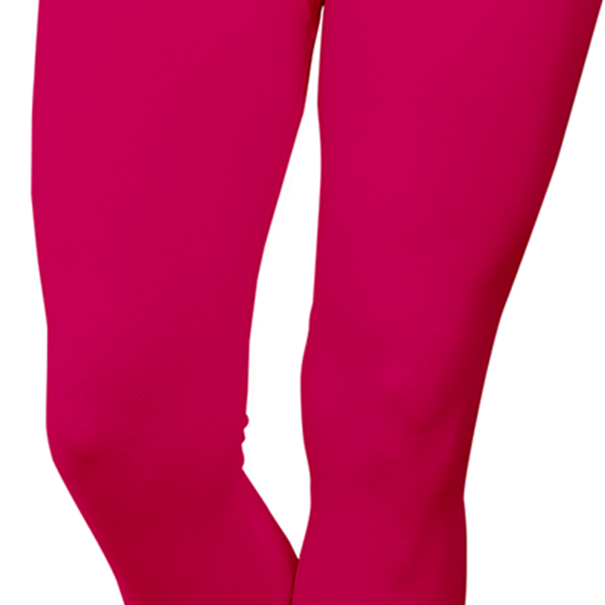 Magnetic Pink Colored Casual Wear Ankle Length Leggings