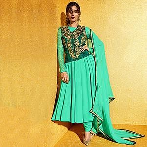 Sea Green Georgette Anarkali