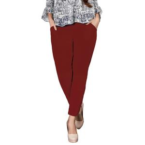 Beautiful Maroon Colored Casual Wear Cotton Pant