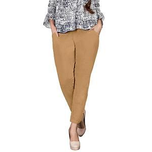 Impressive Beige Colored Casual Wear Cotton Pant