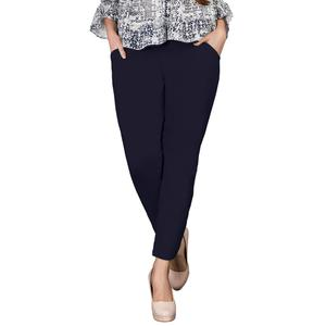 Stylish Navy Blue Colored Casual Wear Cotton Pant