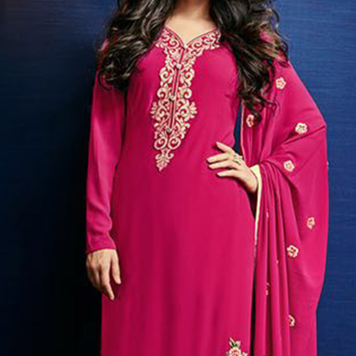 Hot Pink Designer Salwar Suit