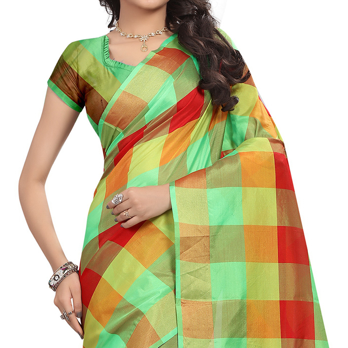 Exotic Green Colored Casual Wear Silk Saree