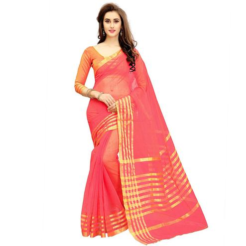 Opulent Pink Colored Festive Wear Kota Silk Saree