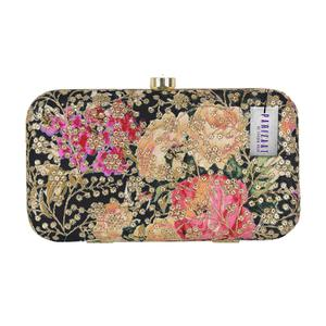 Trendy Black Colored Handcrafted Partywear Sequin Embroidered Clutch