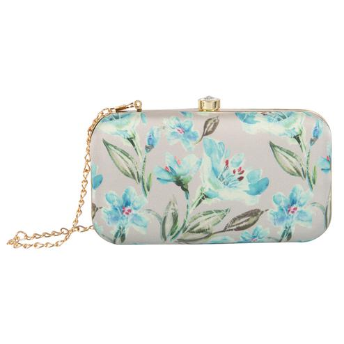 Ideal Multi Colored Handcrafted Partywear Embroidered Clutch