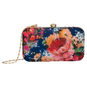 Majesty Blue Colored Handcrafted Partywear Embroidered Clutch