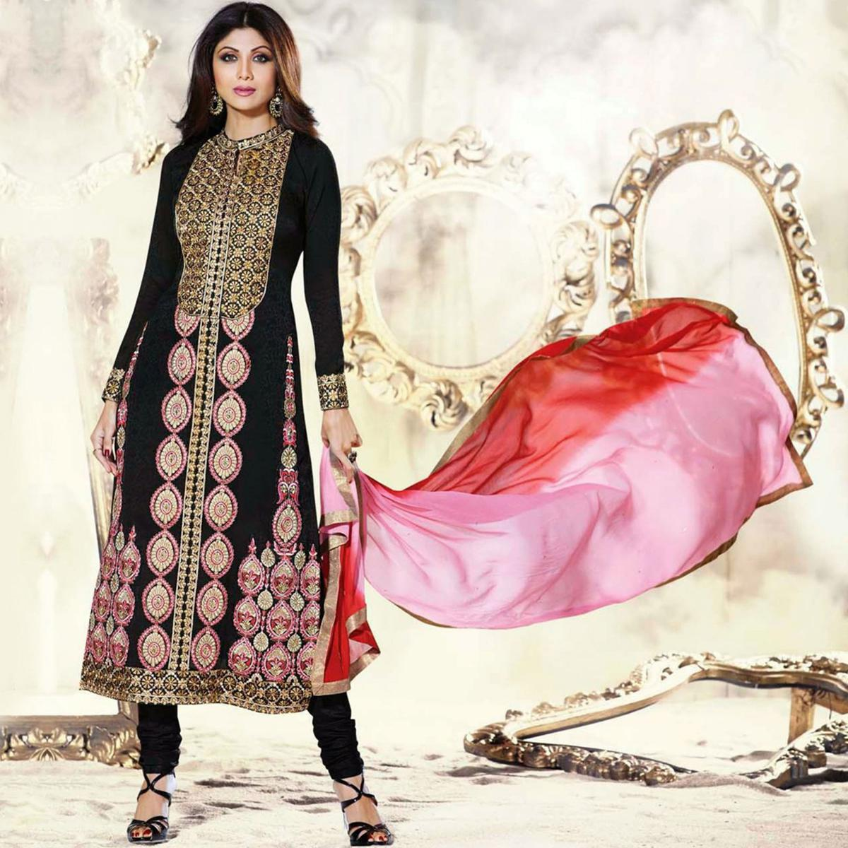 Buy Exquisite Black Party Wear Suit online India, Best Prices ...