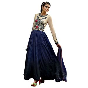 Cream - Blue Gown Style Anarkali