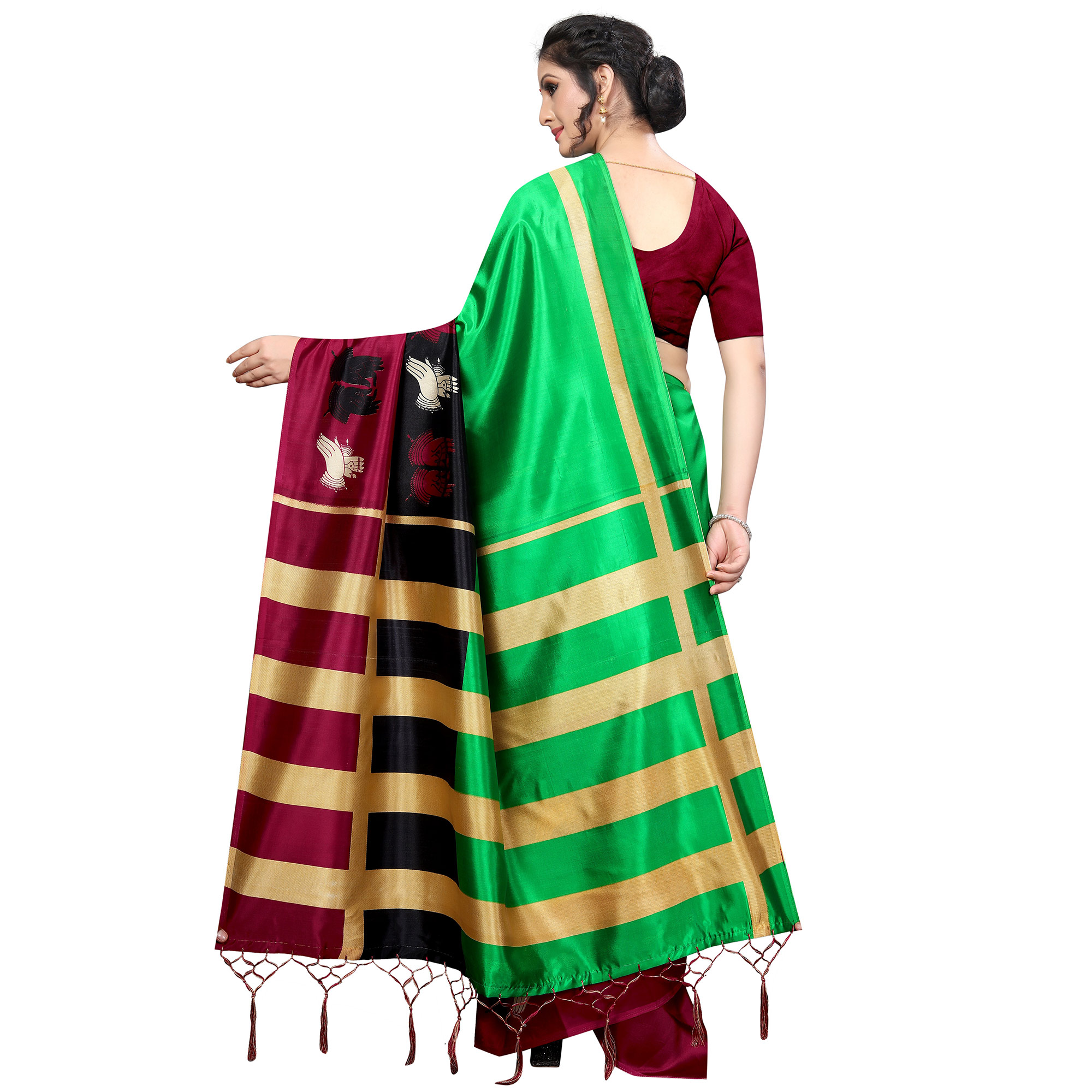 Excellent Green Colored Festive Wear Banarasi Art Silk Saree