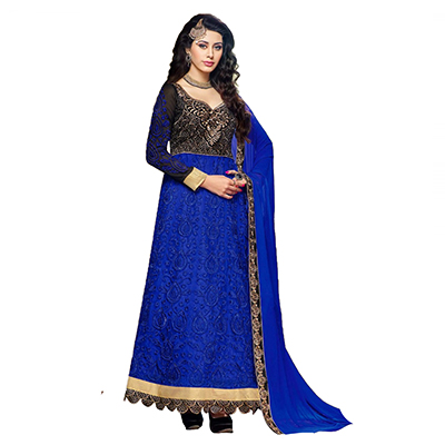 Royal Blue Anarkali / Lehenga