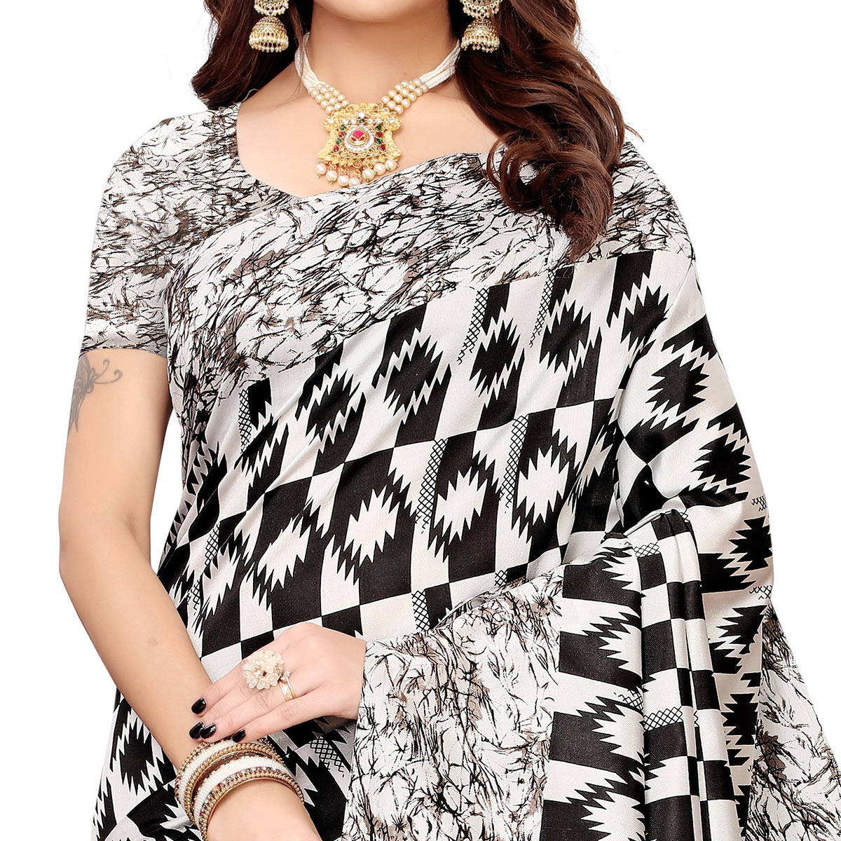 Radiant Black Colored Festive Wear Banarasi Art Silk Saree