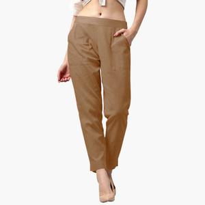 Staring Beige Colored Casual Wear Cotton Pant