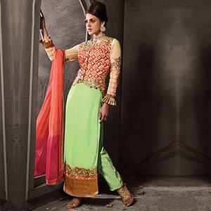Light Green Pant Style Suit