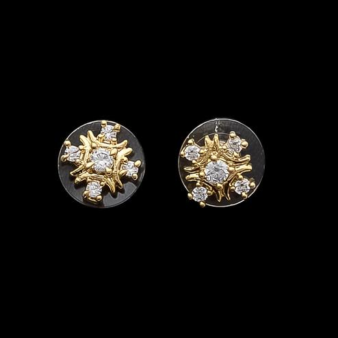 Exceptional Small Designer Stud Earrings