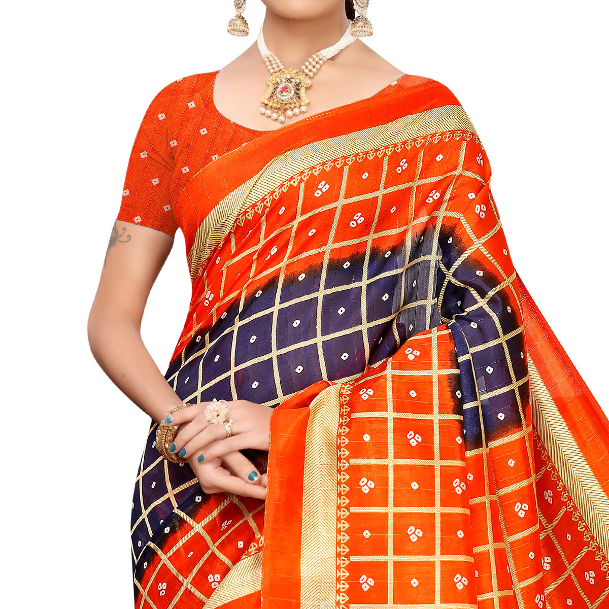 Opulent Blue Colored Casual Printed Art Silk Saree