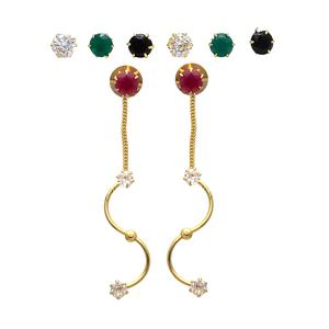 Flamboyant Designer Changeable Tops Designer Earrings