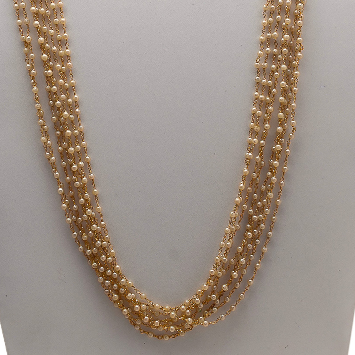 Groovy Designer Long Pearl Necklace