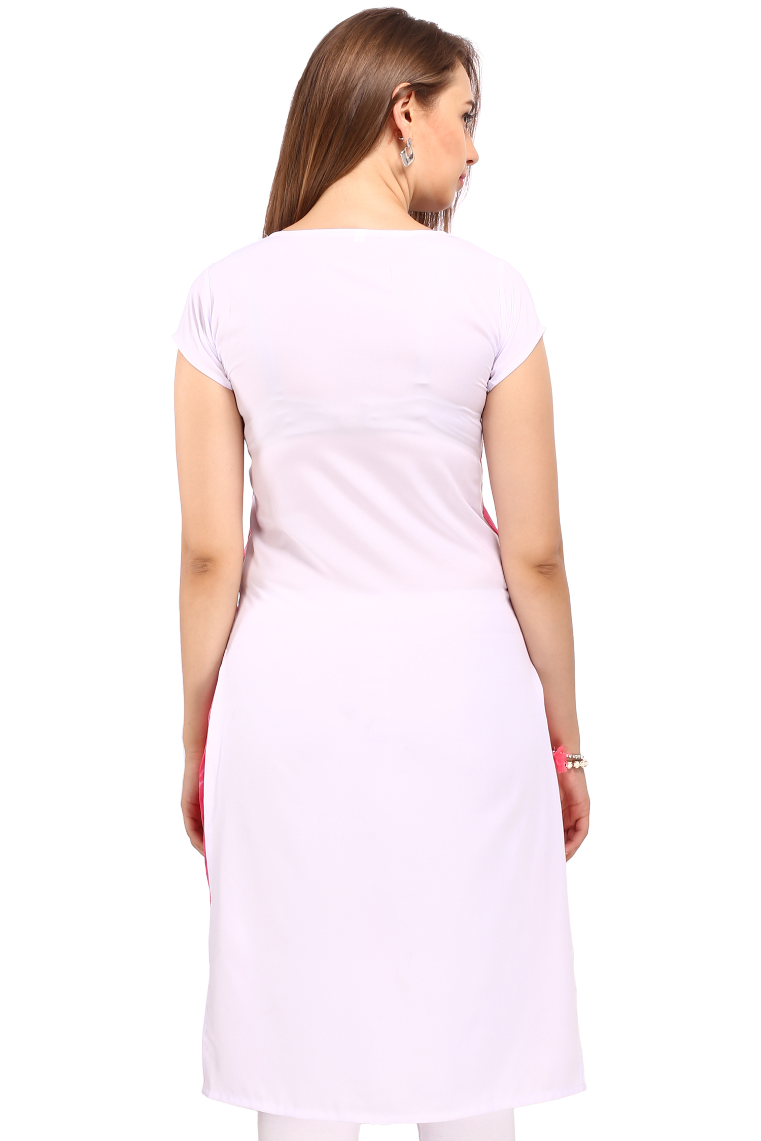 Pink - White Casual Wear Kurti