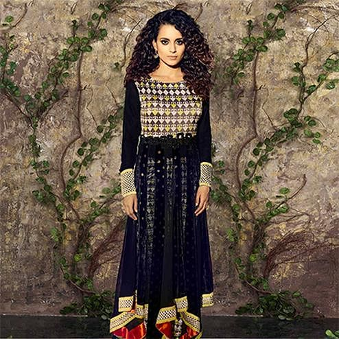 Stunning Black Georgette Anarkali
