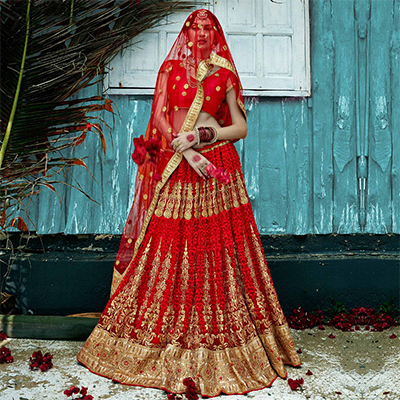 Red Wedding Wear Lehenga Choli