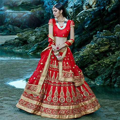 Red Color Designer Lehenga Choli
