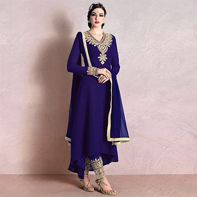 Purple Party Wear Designer Suit